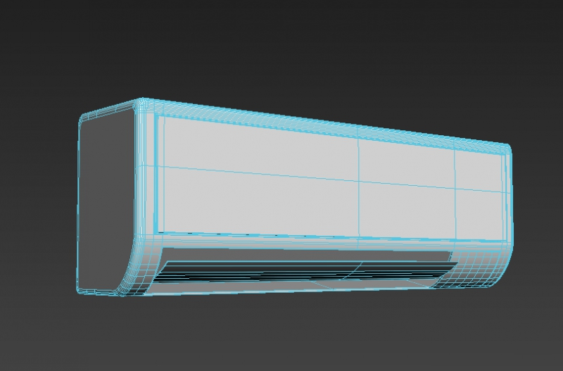 Split Air Conditioner 3d rendering