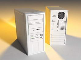 White Computer Case 3d model preview