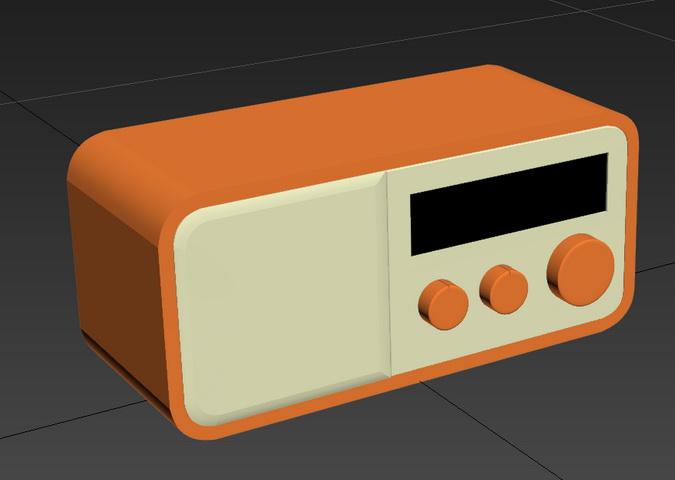 Vintage Radio 3d rendering