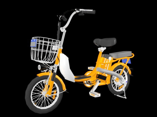 Electric Bike Battery Bicycle 3d rendering