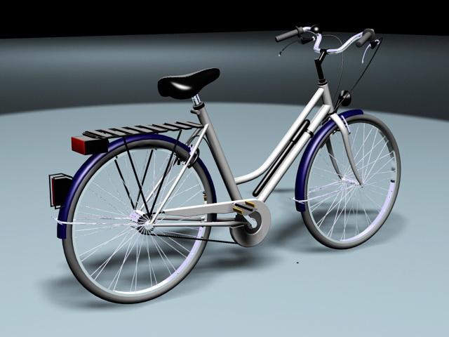 Retro Bike Bicycle 3d rendering