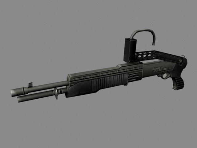 Combat Shotgun 3d rendering