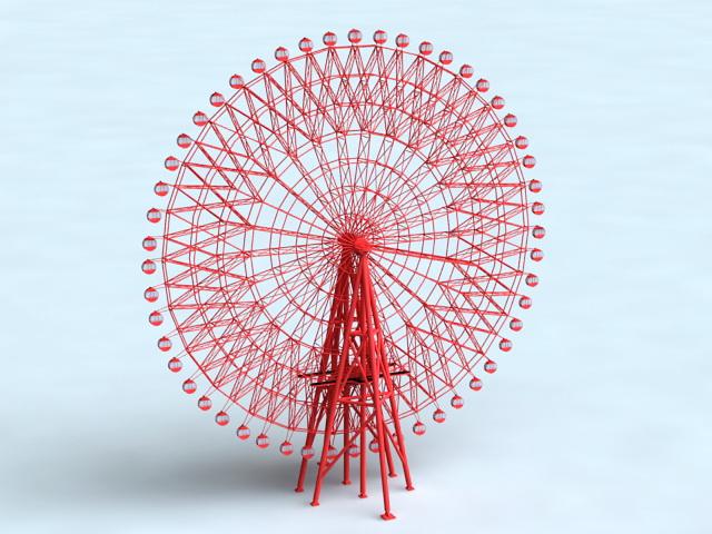 Ferris Wheel 3d rendering
