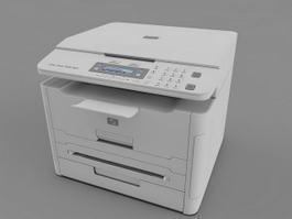 Laser Multifunction Printer 3d model preview