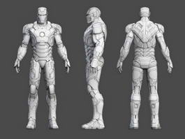 Iron Man Rigged 3d model preview