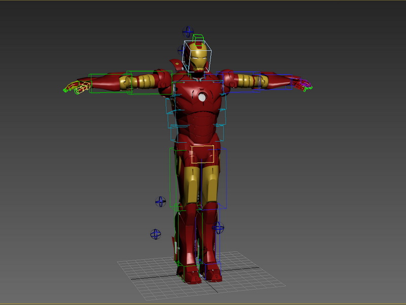 Iron Man Rigged 3d rendering