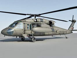 UH-60 Helicopter 3d preview