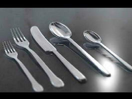 Fork Knife Spoon 3d preview