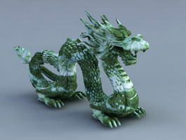 Ancient Chinese Jade Dragon 3d model preview