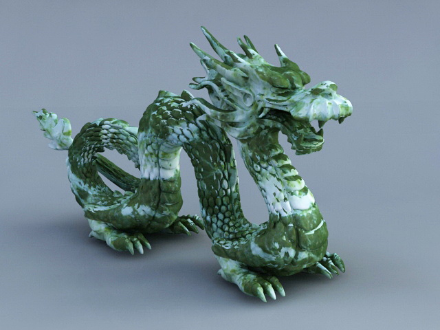 Ancient Chinese Jade Dragon 3d rendering