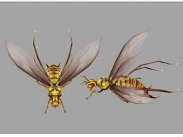 Yellow Hornet 3d model preview