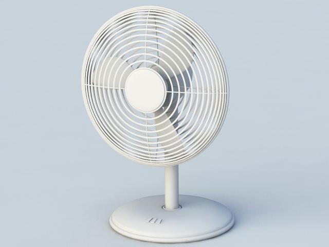 Electric Fan 3d rendering