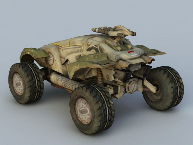 Sci-Fi Military Vehicle 3d rendering