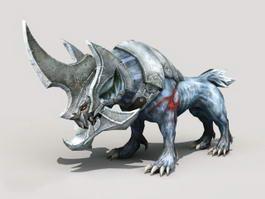 Armor Hyena Monster 3d model preview
