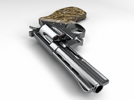Revolver Weapon 3d model preview