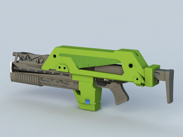 M41-A Pulse Rifle 3d rendering