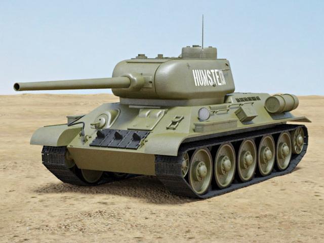 T-34-85 Medium Tank 3d rendering