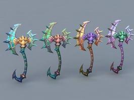 Fantasy Battle Axes 3d model preview