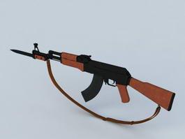 AK-47 with Bayonet 3d preview