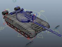 Russian T-80 Tank Rig 3d model preview
