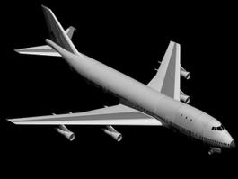 747 Airplane 3d model preview