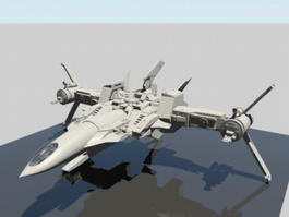 Sci-Fi Star Fighter 3d preview