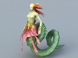 Female Snake Monster 3d model preview