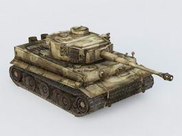 German King Tiger Tank 3d preview