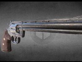 Colt Python Revolver 3d preview