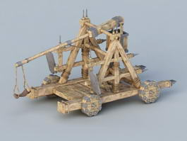 Ancient Rome Catapult 3d preview