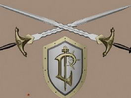 Medieval Sword and Shield 3d preview