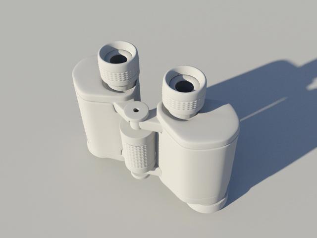 Military Zoom Binoculars 3d rendering