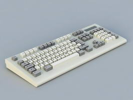 Old Computer Keyboard 3d preview