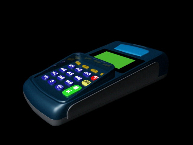POS Terminal Machine 3d rendering
