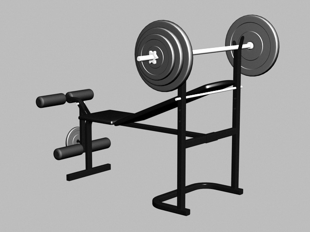 Gym Weight Bench 3d rendering