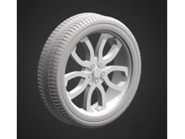 Car Wheel and Tire 3d preview