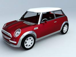 Original Mini Cooper 3d model preview