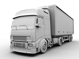 Freightliner Box Truck 3d preview