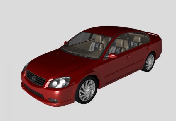 Nissan Altima 3d rendering