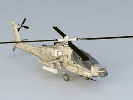 Apache Helicopter 3d preview