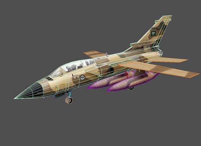 Panavia Tornado Aircraft 3d rendering