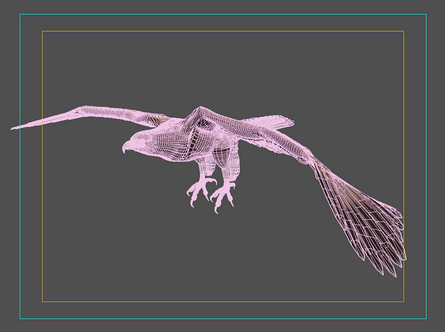 Animated Eagle 3d rendering
