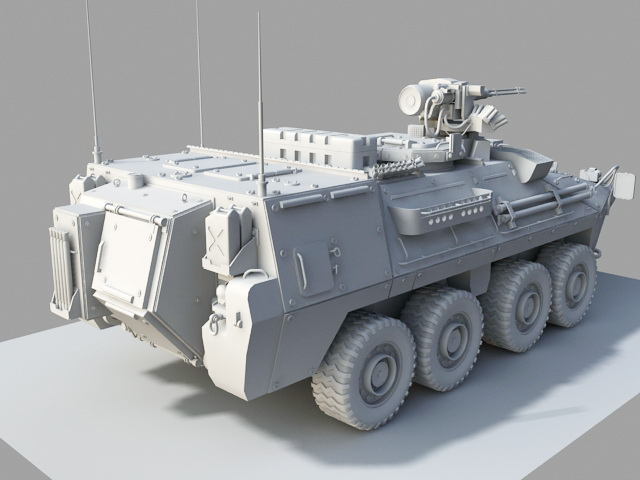 Wheeled Armored Vehicle 3d rendering
