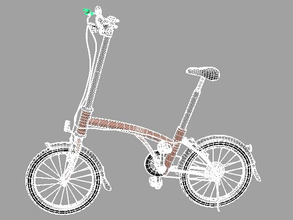 Girl Bicycle 3d rendering