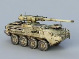 Self-Propelled Howitzer Artillery 3d preview