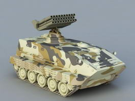 Self-Propelled Anti-Air Missile 3d preview