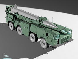 Scud B Missile Launcher Truck 3d preview