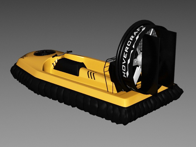 Personal Hovercraft 3d rendering