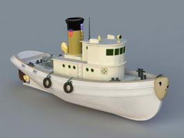 Vintage Tugboat 3d preview