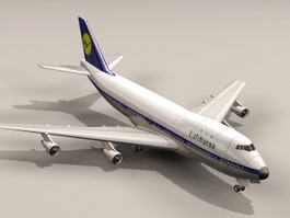 Boeing 747 Commercial Airliner 3d preview